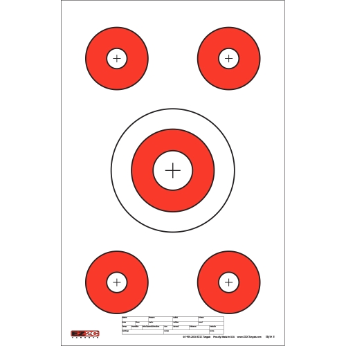 Style 3: Five Targets per Sheet