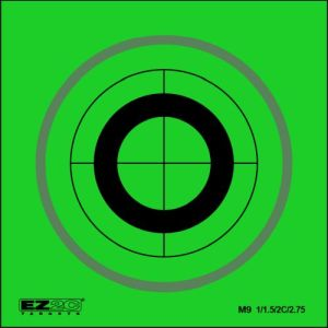 Mini Targets Green Style 9