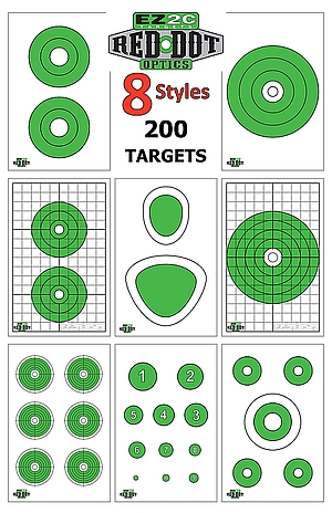 200 EZ2C Targets Eight Red Dot Optics Styles