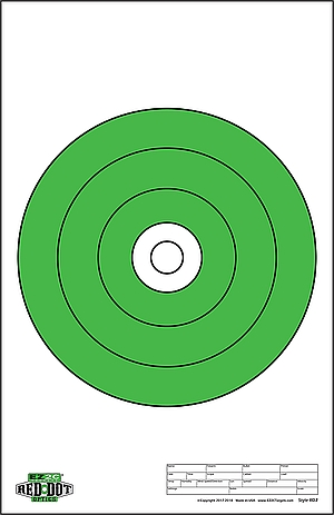 "Red Dot Optics Style 2: 10"" of EZ2C Green Bullseye"